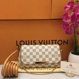 Louis Vuitton Favorite PM Damier Azur CrossbodyBag